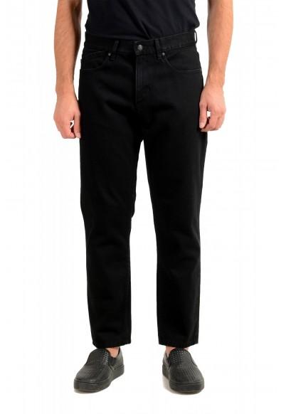 """Hugo Boss Men's """"Hugo 334"""" Black Relaxed Fit Jeans"""