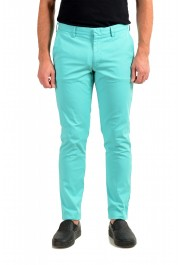 """Hugo Boss Men's """"Kaito1"""" Turquoise Flat Front Casual Pants"""