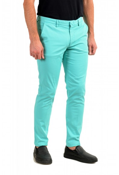"""Hugo Boss Men's """"Kaito1"""" Turquoise Flat Front Casual Pants: Picture 2"""