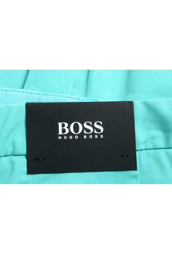 """Hugo Boss Men's """"Kaito1"""" Turquoise Flat Front Casual Pants: Picture 4"""