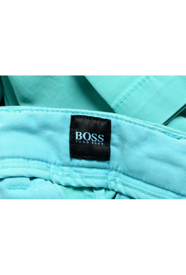 """Hugo Boss Men's """"Kaito1"""" Turquoise Flat Front Casual Pants: Picture 5"""