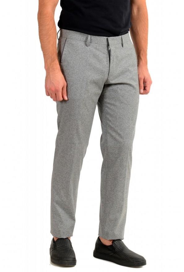 "Hugo Boss Men's ""Gido"" Gray Wool Silk Flat Front Casual Pants: Picture 2"