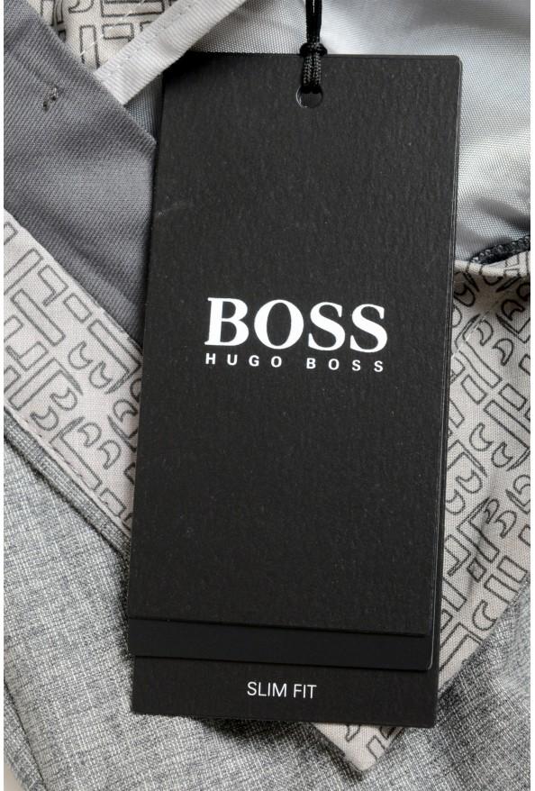 "Hugo Boss Men's ""Gido"" Gray Wool Silk Flat Front Casual Pants: Picture 4"