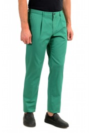 """Hugo Boss Men's """"Sleat"""" Emerald Green Pleated Casual Pants: Picture 2"""
