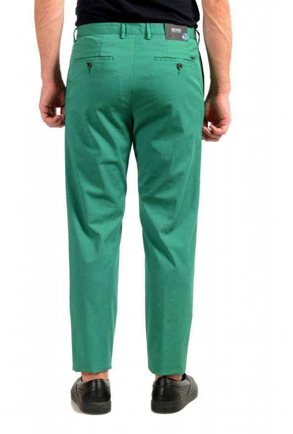 """Hugo Boss Men's """"Sleat"""" Emerald Green Pleated Casual Pants: Picture 3"""