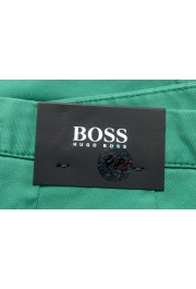 """Hugo Boss Men's """"Sleat"""" Emerald Green Pleated Casual Pants: Picture 4"""