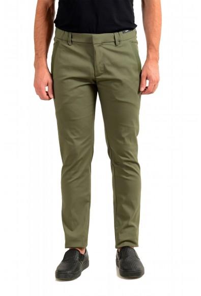 """Hugo Boss Men's """"Rogan4-1"""" Slim Fit Olive Green Casual Pants"""