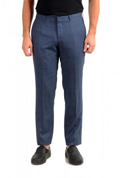 "Hugo Boss Men's ""Gido"" Blue 100% Wool Flat Front Casual Pants"