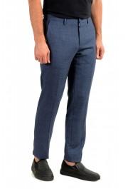 "Hugo Boss Men's ""Gido"" Blue 100% Wool Flat Front Casual Pants: Picture 2"