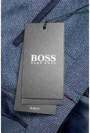 "Hugo Boss Men's ""Gido"" Blue 100% Wool Flat Front Casual Pants: Picture 4"
