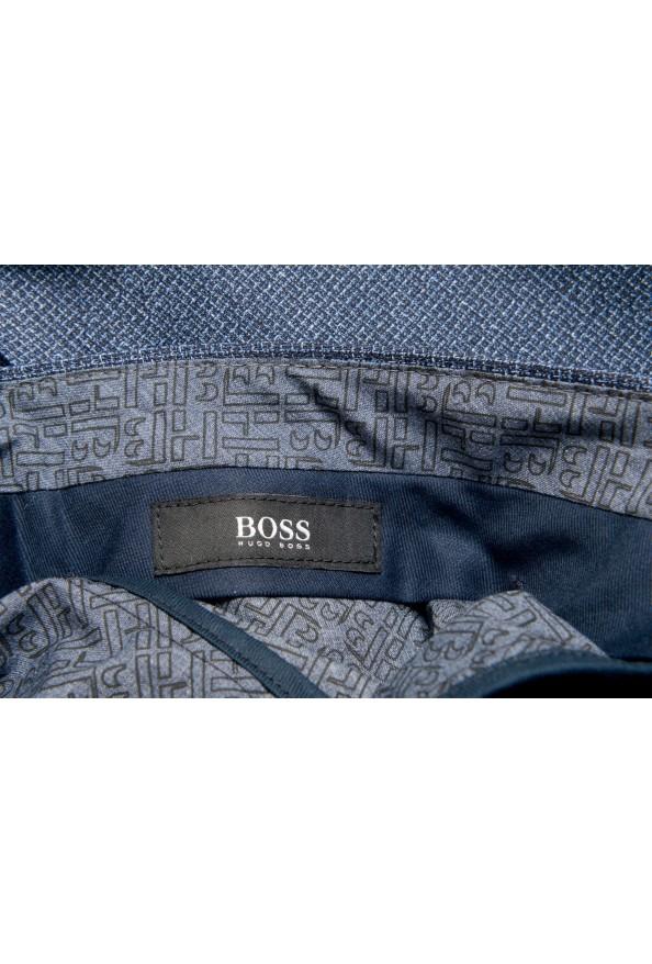 "Hugo Boss Men's ""Gido"" Blue 100% Wool Flat Front Casual Pants: Picture 5"