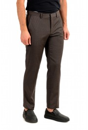 "Hugo Boss Men's ""Gido"" Brown 100% Wool Flat Front Pants: Picture 2"