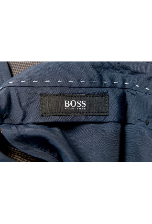 "Hugo Boss Men's ""Gido"" Brown 100% Wool Flat Front Pants: Picture 5"