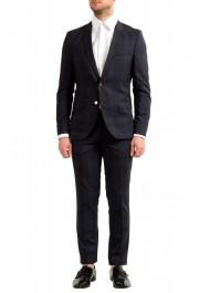 "Hugo Boss Men's ""Arti/Hesten182"" Extra Slim Plaid 100% Wool Two Button Suit"