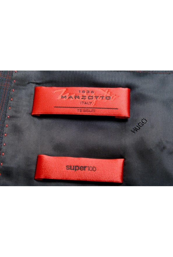 "Hugo Boss Men's ""Arti/Hesten182"" Extra Slim Plaid 100% Wool Two Button Suit: Picture 12"