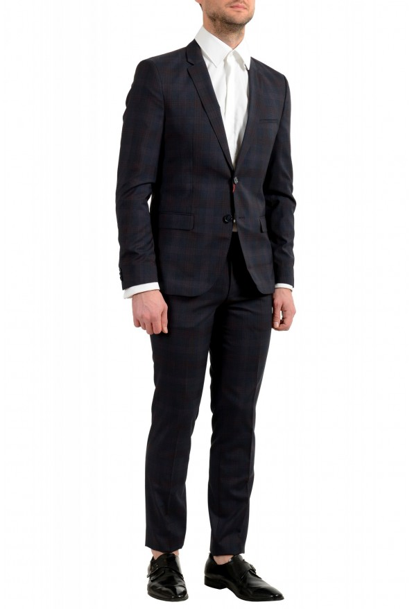 "Hugo Boss Men's ""Arti/Hesten182"" Extra Slim Plaid 100% Wool Two Button Suit: Picture 2"