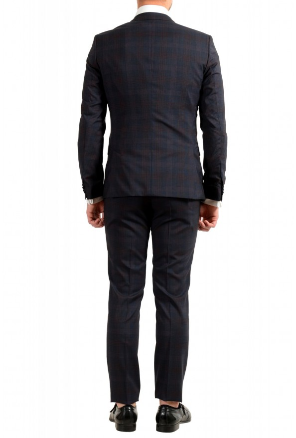 "Hugo Boss Men's ""Arti/Hesten182"" Extra Slim Plaid 100% Wool Two Button Suit: Picture 3"