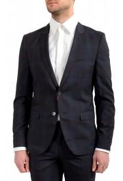 "Hugo Boss Men's ""Arti/Hesten182"" Extra Slim Plaid 100% Wool Two Button Suit: Picture 4"