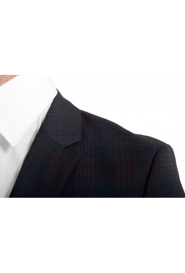 "Hugo Boss Men's ""Arti/Hesten182"" Extra Slim Plaid 100% Wool Two Button Suit: Picture 7"