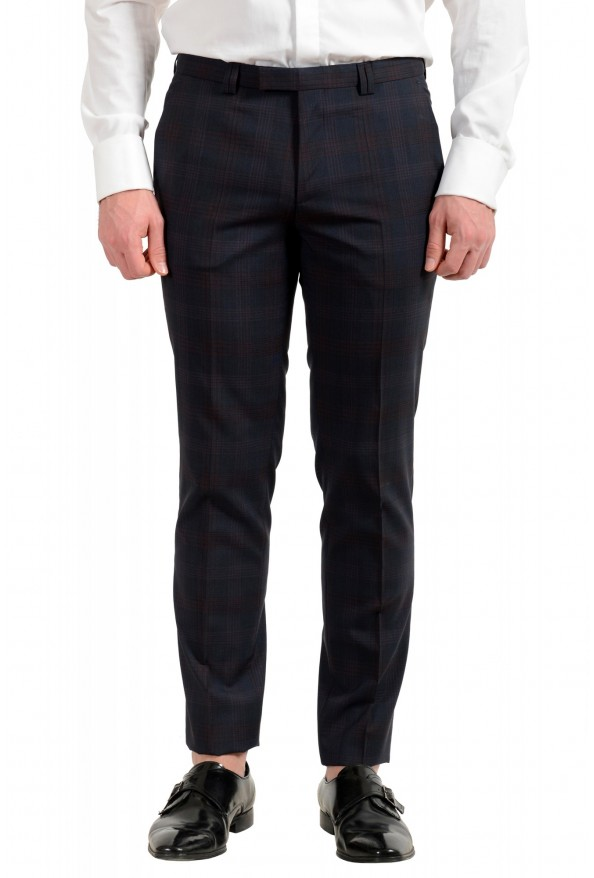 "Hugo Boss Men's ""Arti/Hesten182"" Extra Slim Plaid 100% Wool Two Button Suit: Picture 8"