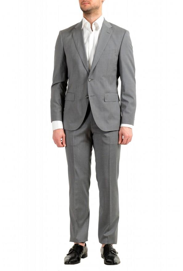 "Hugo Boss Men's ""Jets4/Lenon1"" Regular Fit Gray 100% Wool Two Button Suit"