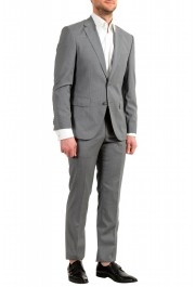 """Hugo Boss Men's """"Jets4/Lenon1"""" Regular Fit Gray 100% Wool Two Button Suit: Picture 2"""