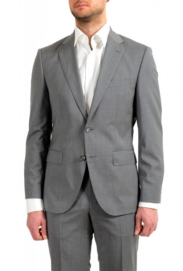 """Hugo Boss Men's """"Jets4/Lenon1"""" Regular Fit Gray 100% Wool Two Button Suit: Picture 4"""