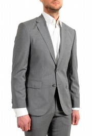 """Hugo Boss Men's """"Jets4/Lenon1"""" Regular Fit Gray 100% Wool Two Button Suit: Picture 5"""