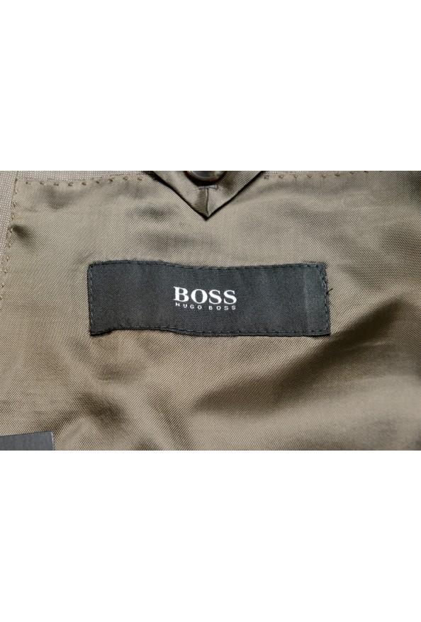 "Hugo Boss Men's ""Huge6/Genius5"" Slim Fit Beige Silk Wool Two Button Suit: Picture 12"