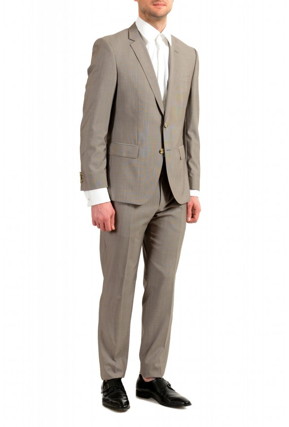 "Hugo Boss Men's ""Huge6/Genius5"" Slim Fit Beige Silk Wool Two Button Suit: Picture 2"