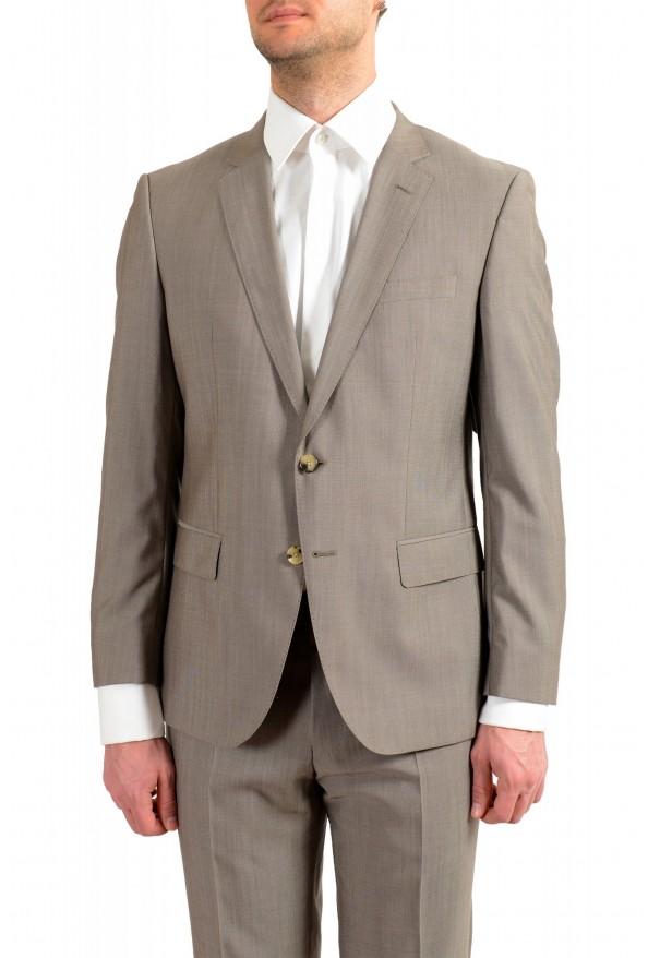"Hugo Boss Men's ""Huge6/Genius5"" Slim Fit Beige Silk Wool Two Button Suit: Picture 4"