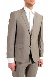 "Hugo Boss Men's ""Huge6/Genius5"" Slim Fit Beige Silk Wool Two Button Suit: Picture 5"