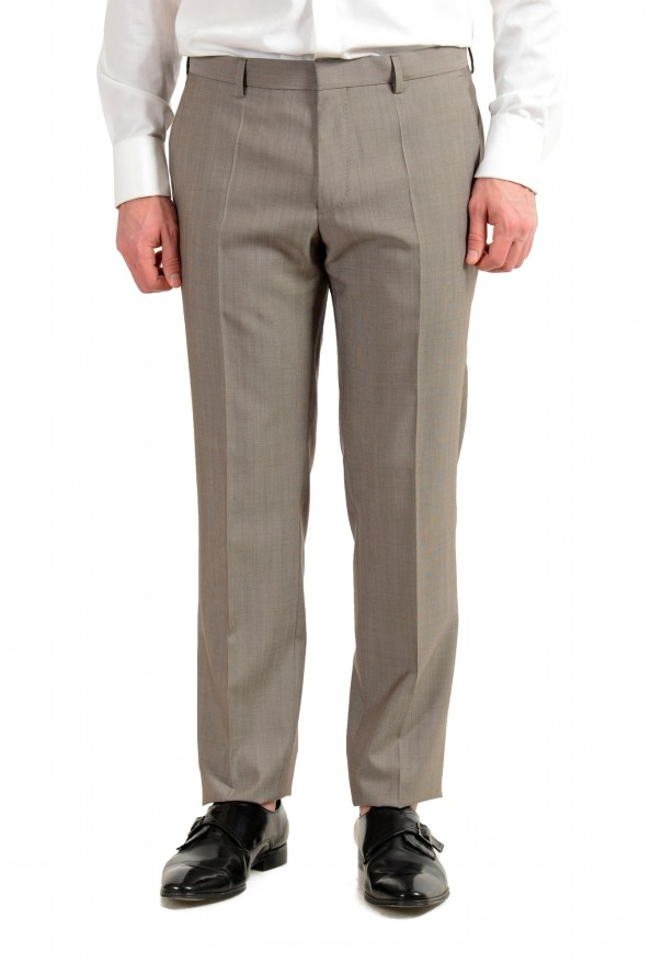 "Hugo Boss Men's ""Huge6/Genius5"" Slim Fit Beige Silk Wool Two Button Suit: Picture 8"