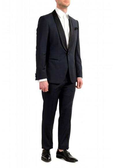 "Hugo Boss Men's ""Henry1/Glow1"" Slim Fit Blue 100% Wool Plaid Tuxedo Suit: Picture 2"