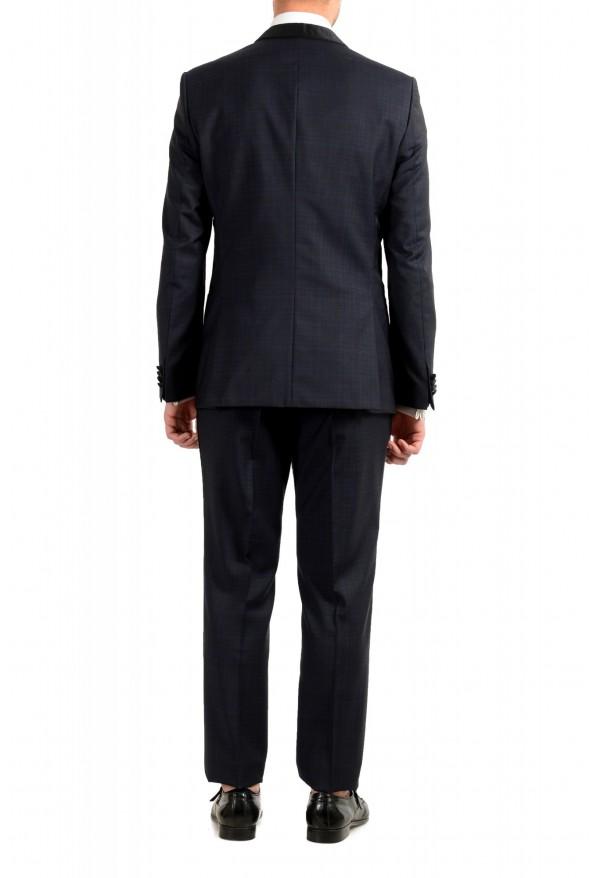 "Hugo Boss Men's ""Henry1/Glow1"" Slim Fit Blue 100% Wool Plaid Tuxedo Suit: Picture 3"