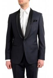 "Hugo Boss Men's ""Henry1/Glow1"" Slim Fit Blue 100% Wool Plaid Tuxedo Suit: Picture 4"