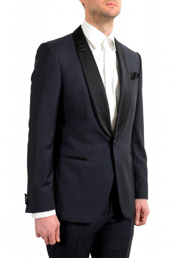"Hugo Boss Men's ""Henry1/Glow1"" Slim Fit Blue 100% Wool Plaid Tuxedo Suit: Picture 5"