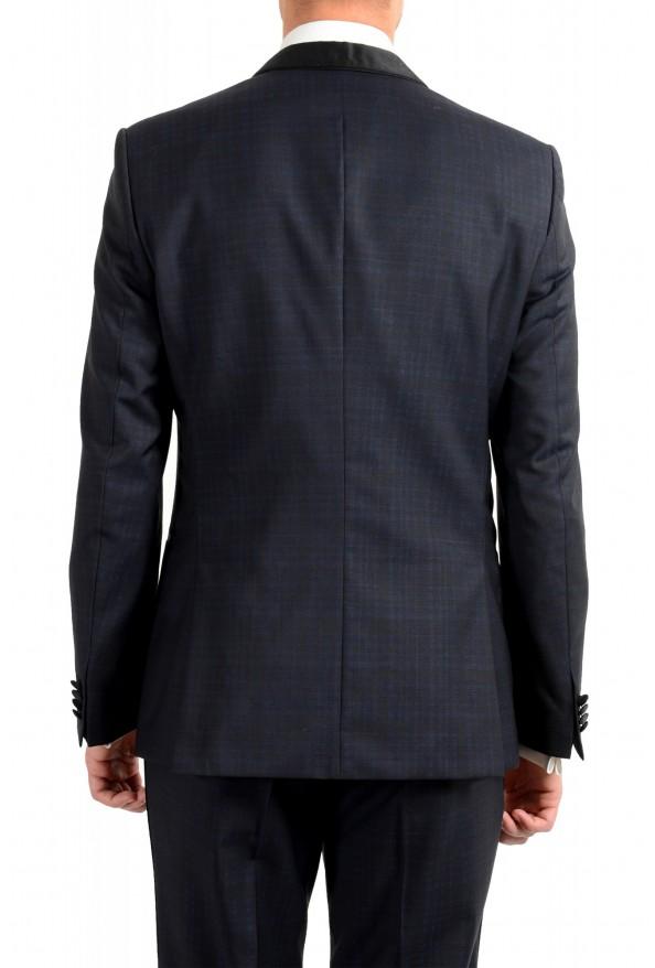 "Hugo Boss Men's ""Henry1/Glow1"" Slim Fit Blue 100% Wool Plaid Tuxedo Suit: Picture 6"