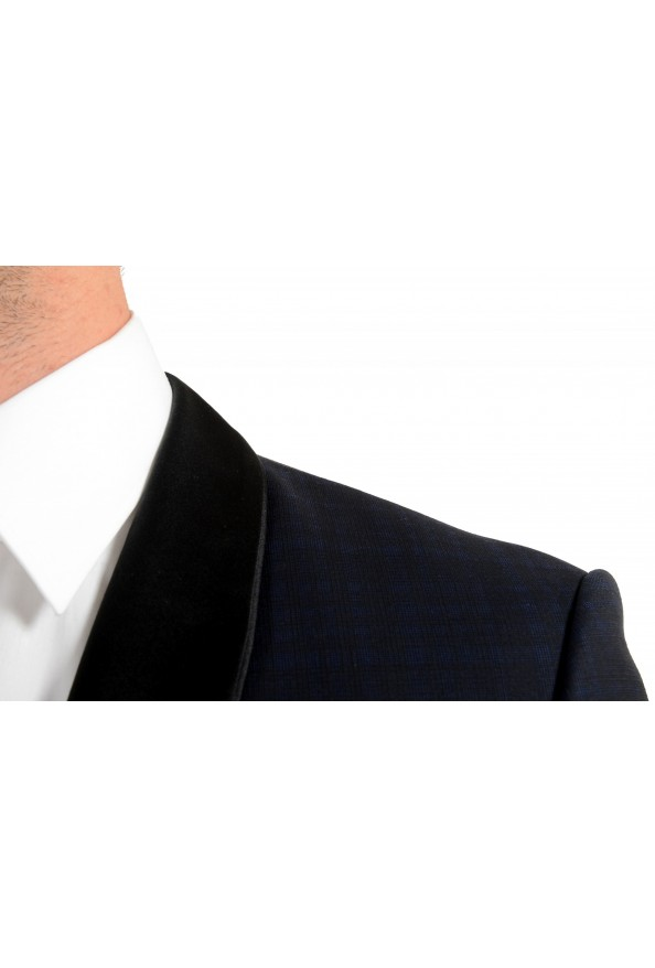 "Hugo Boss Men's ""Henry1/Glow1"" Slim Fit Blue 100% Wool Plaid Tuxedo Suit: Picture 7"