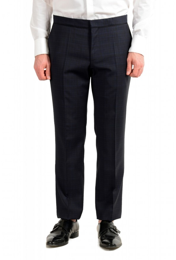 "Hugo Boss Men's ""Henry1/Glow1"" Slim Fit Blue 100% Wool Plaid Tuxedo Suit: Picture 8"