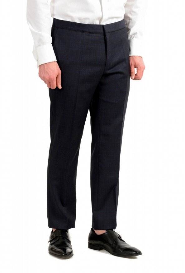 "Hugo Boss Men's ""Henry1/Glow1"" Slim Fit Blue 100% Wool Plaid Tuxedo Suit: Picture 9"