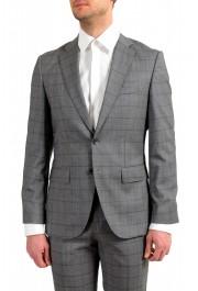 "Hugo Boss Men's ""Johnstons5/Lenon1"" Regular Fit 100% Wool Plaid Two Button Suit: Picture 4"