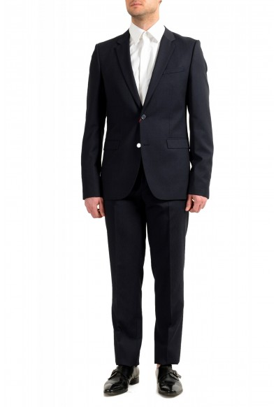 """Hugo Boss Men's """"Astian/Hets182"""" Extra Slim Fit Blue 100% Wool Two Button Suit"""