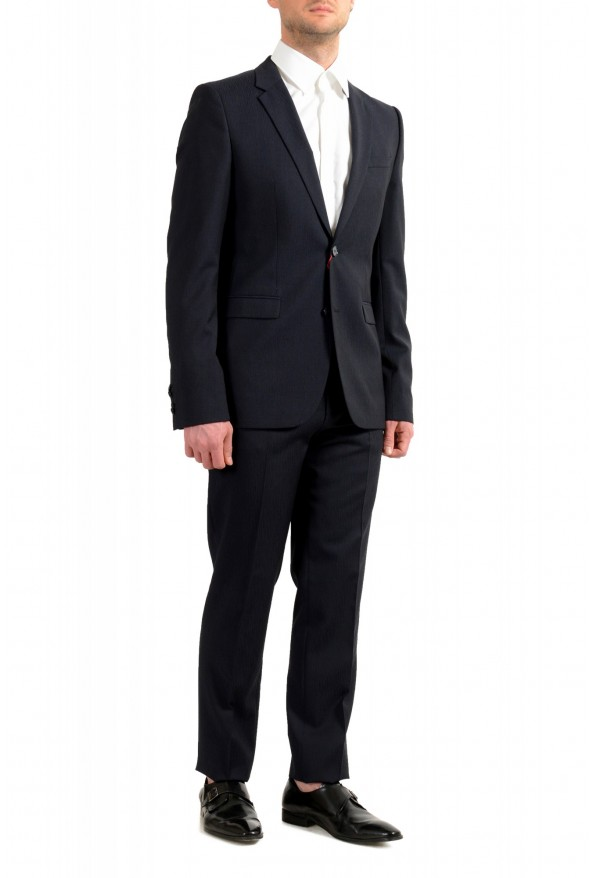 """Hugo Boss Men's """"Astian/Hets182"""" Extra Slim Fit Blue 100% Wool Two Button Suit: Picture 2"""