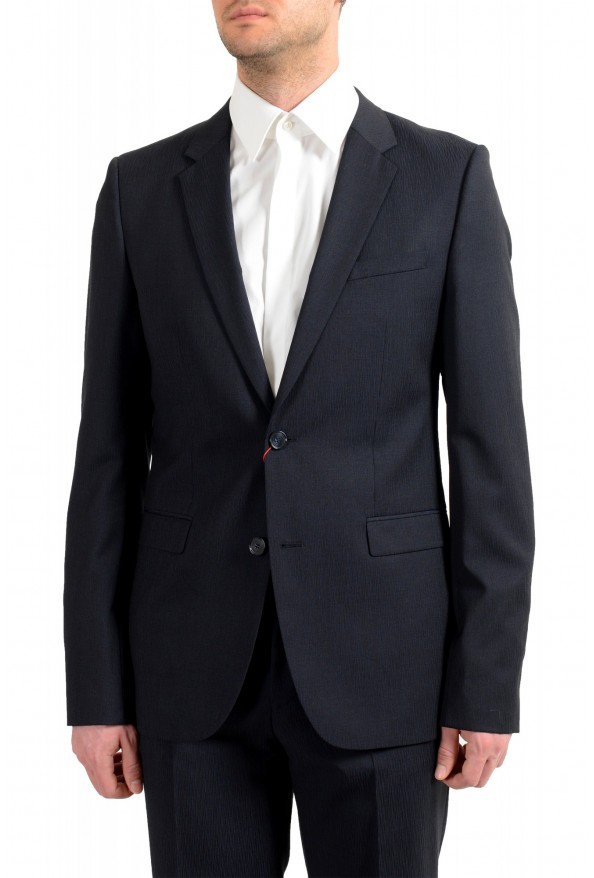 """Hugo Boss Men's """"Astian/Hets182"""" Extra Slim Fit Blue 100% Wool Two Button Suit: Picture 4"""