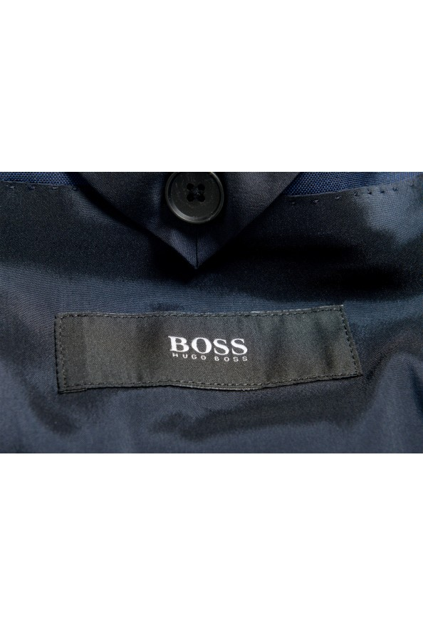 """Hugo Boss Men's """"Namil/Ben2"""" Slim Fit Blue Mohair Wool Double Breasted Suit: Picture 13"""