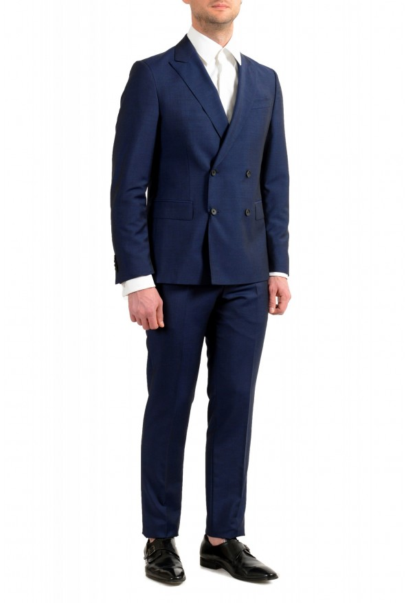 """Hugo Boss Men's """"Namil/Ben2"""" Slim Fit Blue Mohair Wool Double Breasted Suit: Picture 2"""