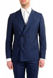 """Hugo Boss Men's """"Namil/Ben2"""" Slim Fit Blue Mohair Wool Double Breasted Suit: Picture 4"""