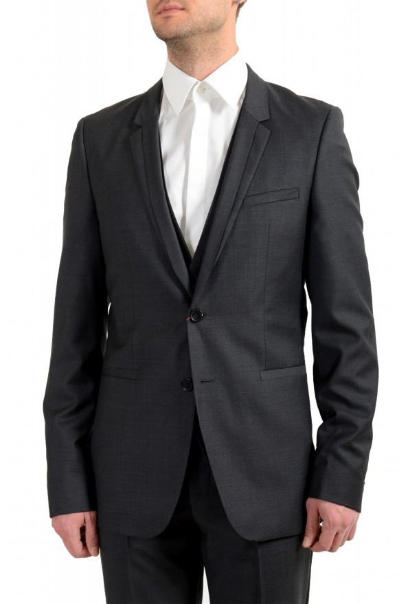 "Hugo Boss Men's ""Arti/Hesten183V1"" Extra Slim Fit 100% Wool Three Piece Suit: Picture 4"