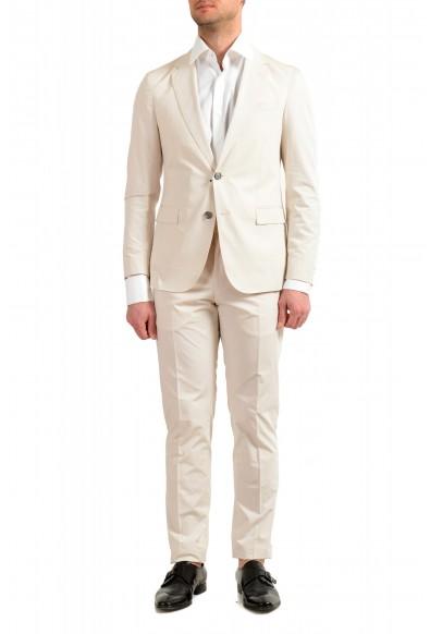 "Hugo Boss Men's ""Nylen1/Pery1"" Slim Fit Stone Beige Two Button Suit"